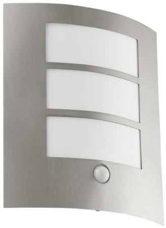 City Flush Outdoor PIR Sensor Wall Light Stainless Steel