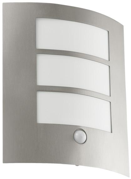 City Flush Outdoor PIR Sensor Wall Light Stainless Steel