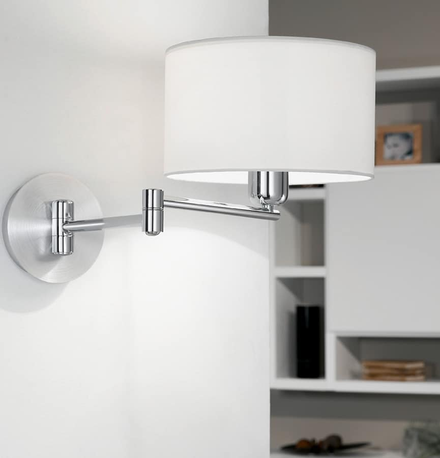 Wall Lights For Bedside : Satin Bedside Swing Arm Wall Reading Lamp 88563