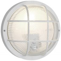 Anola Rust Proof IP44 Round Outdoor Bulkhead Light White