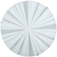 Mars White Segment Glass Flush Ceiling or Wall Light