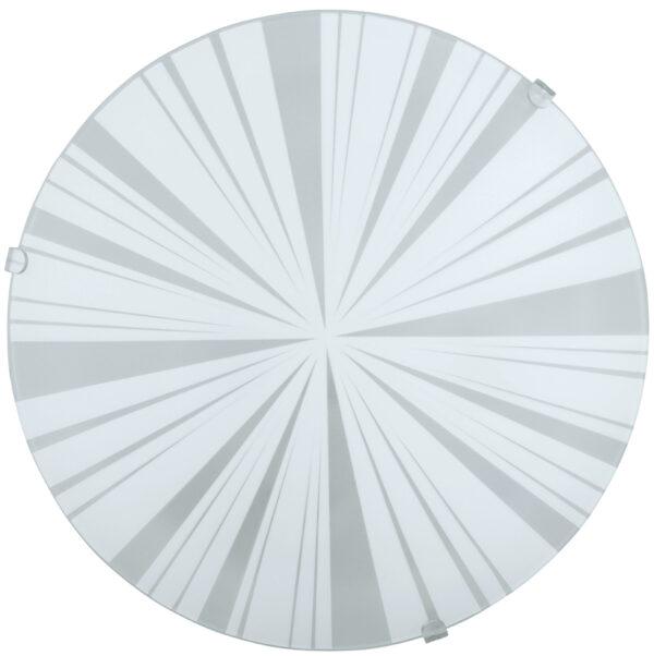 Mars White Segment Glass Flush Ceiling or Wall Light