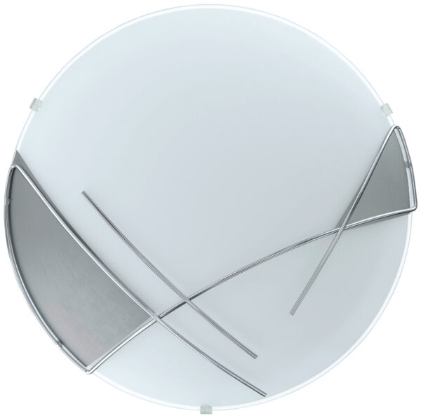 Round Abstract Detail Flush Ceiling or Wall Light