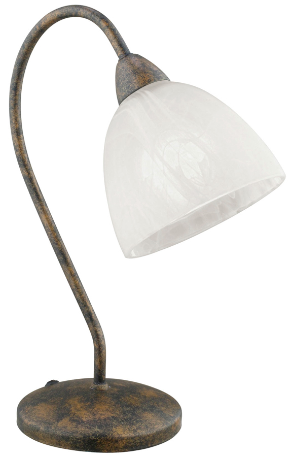 Dionis Rust Finish Table Lamp And Alabaster Shade