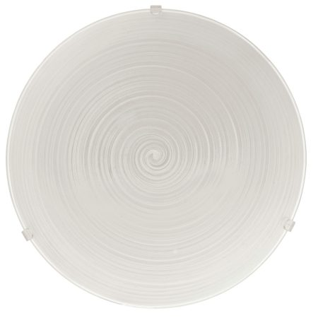 Malva Large Swirled Glass Flush Ceiling Light