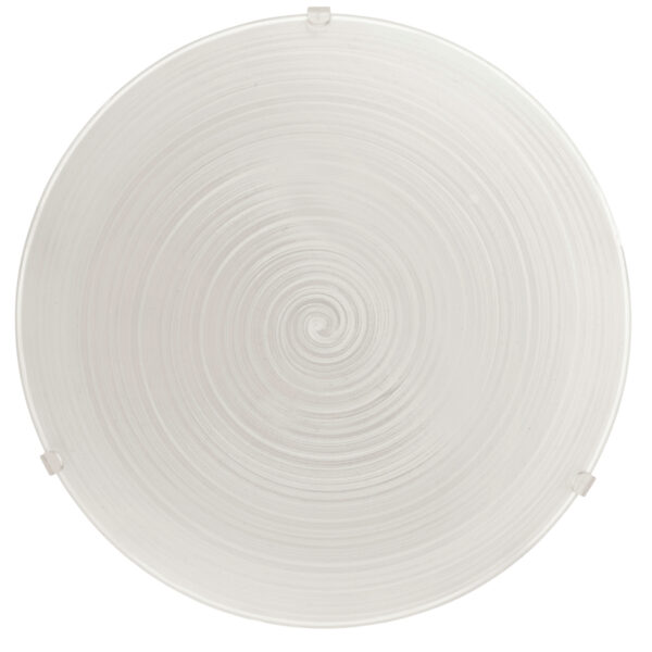 Malva Medium Swirled Glass Flush Ceiling Light