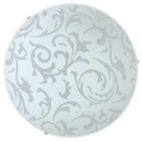 Circular White Vine Glass Flush Ceiling Light