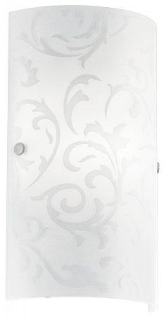 Amadora White Patterned Glass Flush Wall Washer Light