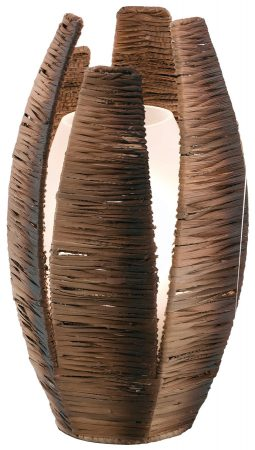 Mongu Brown Fibre Table Lamp