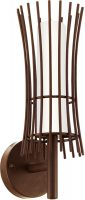 Antique Brown Basket Wall Lantern Outdoor Low Energy
