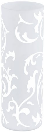 Geo Large White Vine Glass Vase Table Lamp