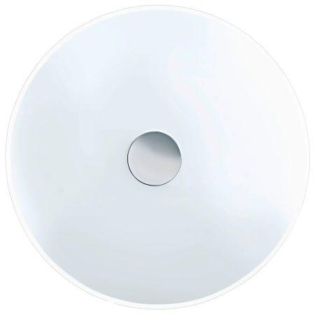 Large White Domed Glass 3 Lamp Flush Ceiling Light