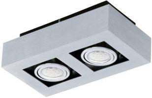Loke Modern Aluminium 2 Light LED Ceiling Spotlight