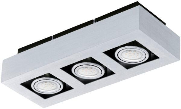Loke Modern Aluminium 3 Light LED Ceiling Spotlight