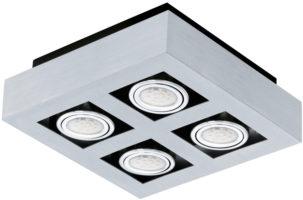 Loke Modern Aluminium 4 Light LED Ceiling Spotlight
