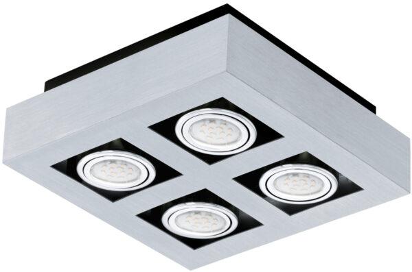 Loke Modern Aluminium 4 Light LED Ceiling Spotlight