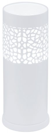 Modern White Steel Patterned Table Light