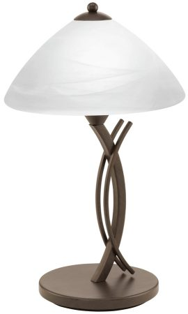 Vinovo Single Table Lamp With White Alabaster Glass