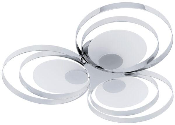 Modern Chrome Loop Flush Fitting Ceiling Light