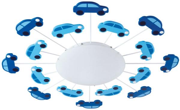 Modern Childs Room Flush Multi Car Detail Light