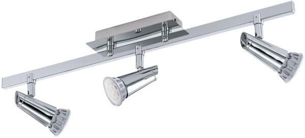 Tabbio Chrome 3 Lamp Ceiling Spotlight Bar
