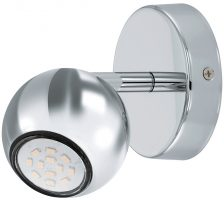 Sancho Single Chrome Ball LED Wall Spotlight