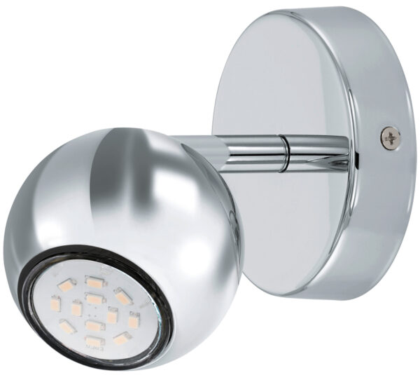 Sancho Single Chrome Ball LED Wall Spotlight