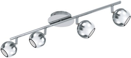 Sancho Chrome Ball 4 Lamp Ceiling LED Spotlight Bar