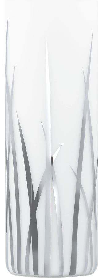 Rivato Modern White Glass Feature Table Lamp Vase