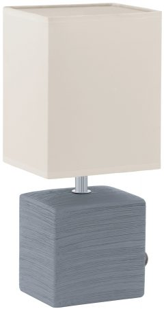 Mataro Grey Ceramic Table Lamp With Shade