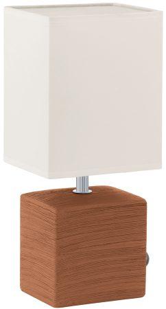 Mataro Rust Ceramic Table Lamp With Shade