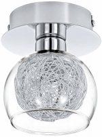Oviedo Modern Chrome Single Semi Flush Ceiling Light