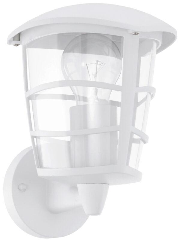 Modern White Upward Lantern Outdoor Wall Light