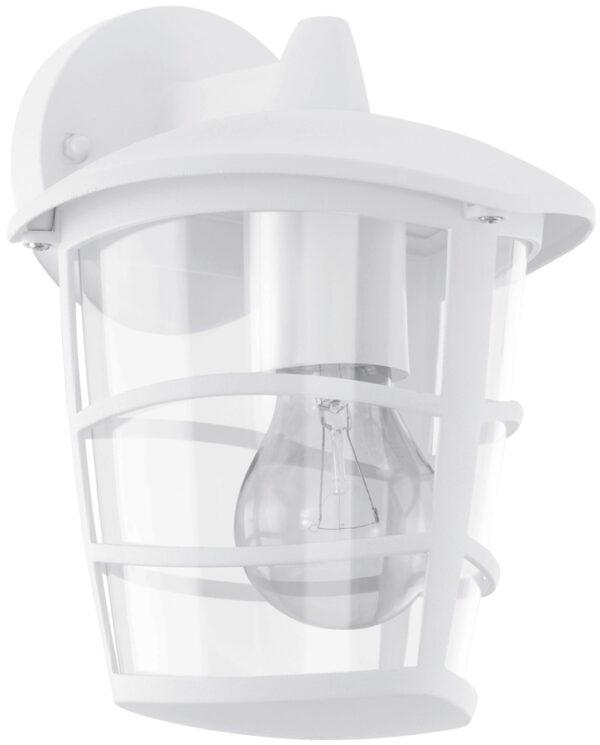 Modern White Downward Lantern Outdoor Wall Light