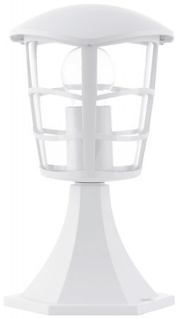 Modern White Short Outdoor Post Light