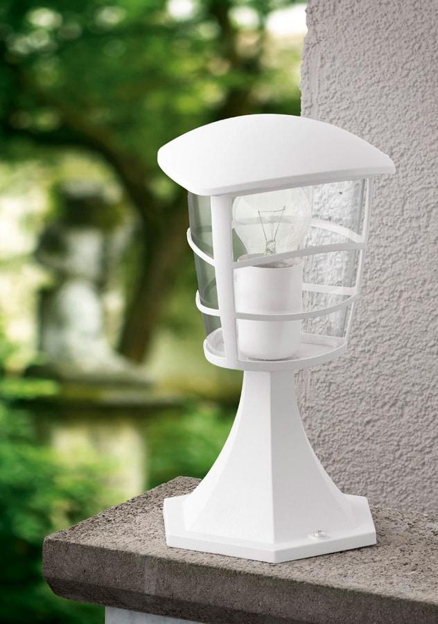 Modern White Short Outdoor Post Light 93096