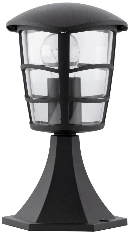 Aloria Modern Black Short Outdoor Post Light