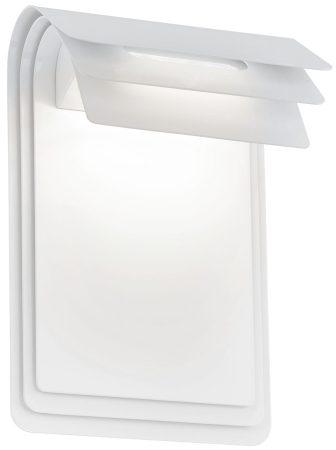 Modern Folded White Steel Outdoor LED Wall Light