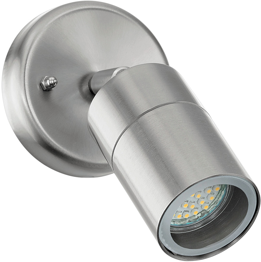 Stainless steel adjustable outdoor led wall spot light 93268 for Spot applique exterieur