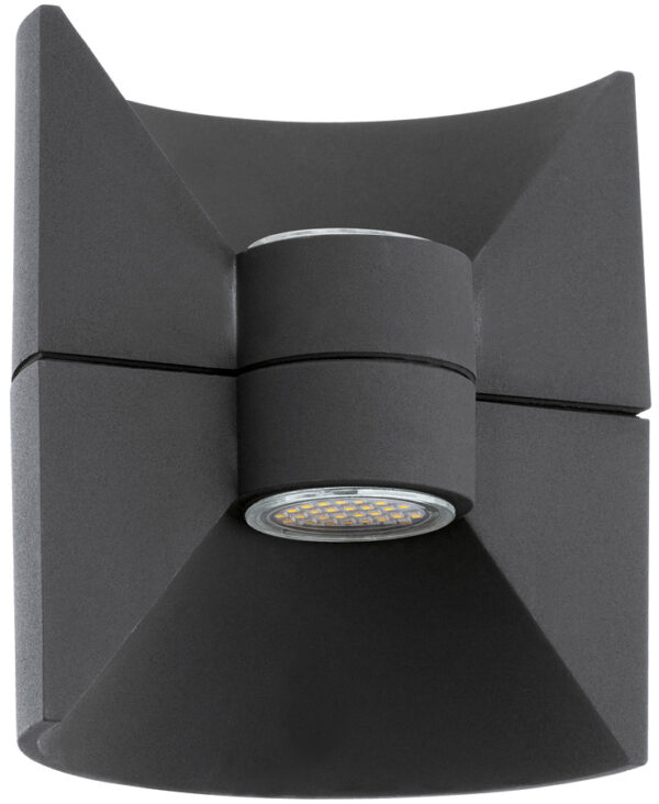 Modern Black Outdoor LED Curved Wall Washer