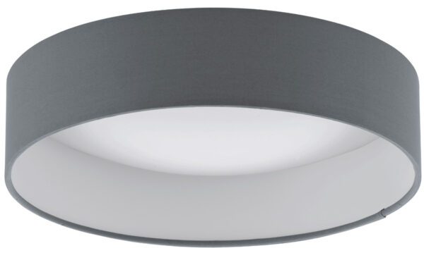 Palomaro 11w LED Flush Mount Grey Fabric Circle Ceiling Light