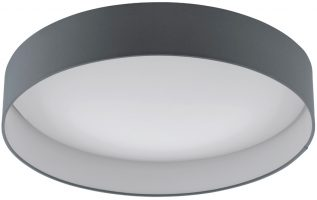Palomaro 24w LED Large Flush Mount Grey Fabric Circle Ceiling Light