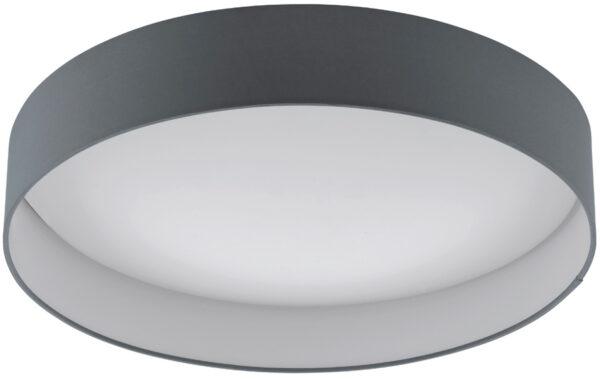 Large Grey Fabric Circle LED Flush Ceiling Light
