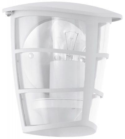Modern White Half Lantern Outdoor Wall Light