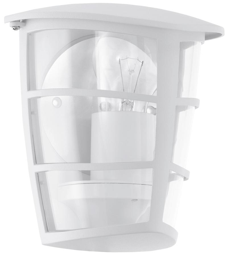 Modern White Half Lantern Outdoor Wall Light 93403