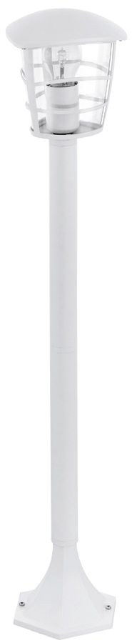 Modern white aluminium outdoor post light 93404 for Contemporary outdoor post light fixtures