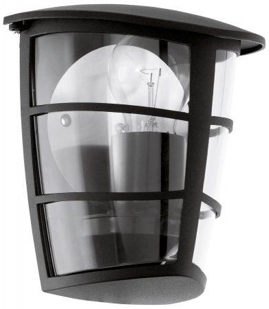 Modern Black Flush Half Lantern Outdoor Wall Light
