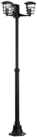 Modern Black 3 Lamp Outdoor Garden Lamp Post