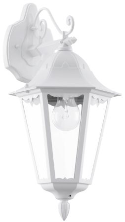 White Victorian Style Downward Outdoor Wall Lantern