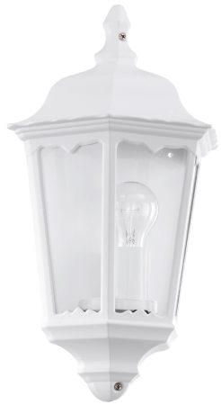 White Victorian Style Outdoor Half Wall Lantern Light